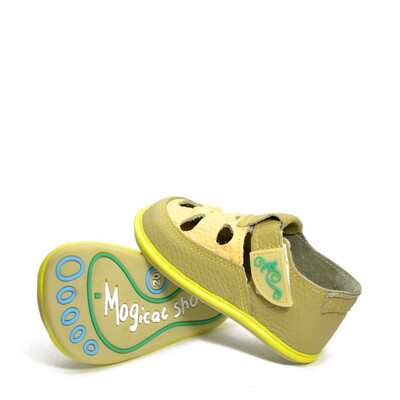 Sandale Barefoot copii Coco, funky, Magical Shoes- CO13LG-24-Magical Shoes-